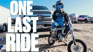 HIS LAST MOTOCROSS RACE | LAST TIME RIDING A DIRT BIKE