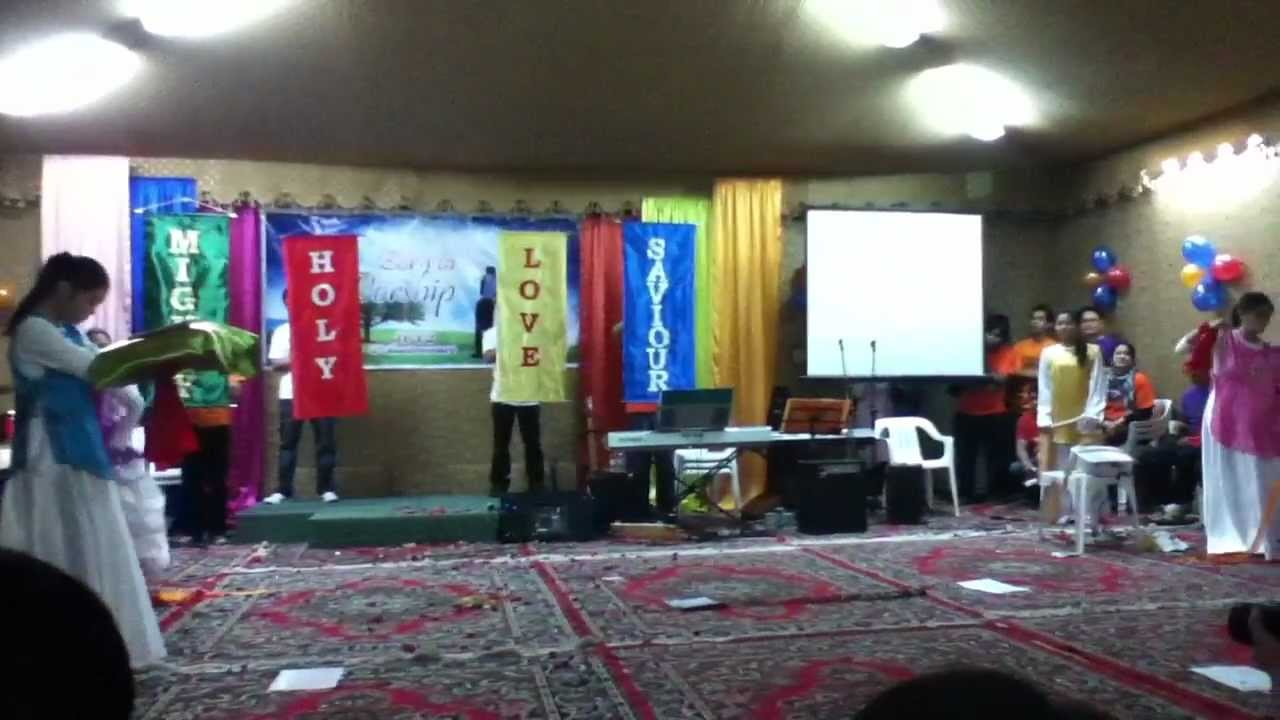 Dance Ministry Presentation Tambourine Flags Banners