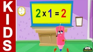 Homeschool Preschool | 2 Times Table Song | Online Math Education (English Language)