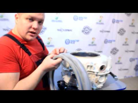 Замена подшипников в стиральной машине Indesit с клееным баком часть 3