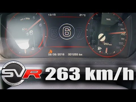 Range Rover Sport SVR Supercharged Acceleration TOP SPEED 0-263 km/h Autobahn Test Drive & Sound