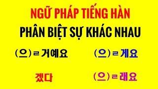 Ngữ Pháp Tiếng Hàn | Phân Biệt Sự Khác Nhau Giữa (으)ㄹ 거예요, (으)ㄹ게요, 겠다, (으)ㄹ래요