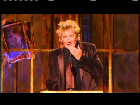 Rod Stewart inducts Percy Sledge Rock and Roll Hall of Fame Inductions 2005
