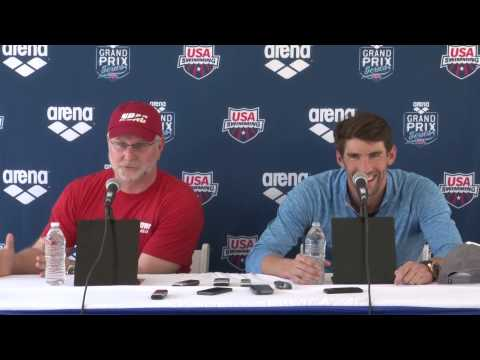 Bob Bowman and Michael Phelps Return to Swimming Press Conference - ARENA GRAND PRIX SERIES at MESA