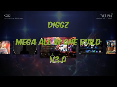 THE DIGGZ MEGA ALL IN ONE BUILD V3.0 FOR KODI 17.3 KRYPTON JULY 2017 ON ARES WIZARD