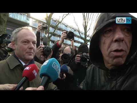 Leiden inBeeld: Demonstratie bij huis Benno L.