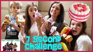 7 Second Squishy Challenge In Huge Box Fort! / That YouTub3 Family
