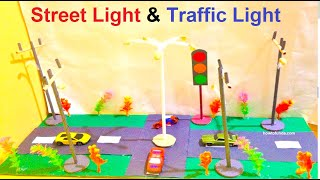 how to make street light and traffic light craft ideas | school model project | exhibition | diy