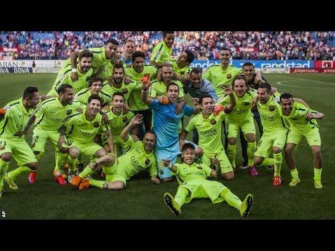 Atletico Madrid vs Barcelona 0 1 full Match 2015 Messi goal gives Barca title La liga 2015
