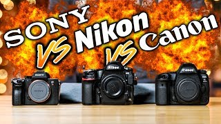 "NIKON D850 vs SONY a7R III vs CANON 5D Mark IV Which To Buy ""Ultimate Battle"""