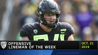 Ducks' lineman Calvin Throckmorton claims Pac-12 Offensive Lineman Player of the Week honors