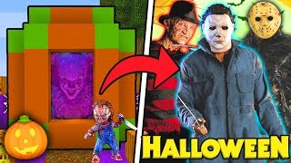 HOW TO MAKE A PORTAL TO THE HALLOWEEN DIMENSION - MINECRAFT CREEPYPASTA