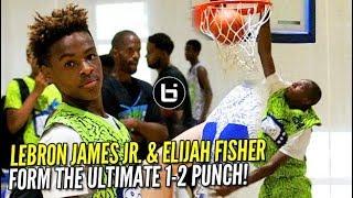 "Lebron James JR. & Elijah Fisher Were the ULTIMATE ""1-2"" Combo at D-Rich TV Camp!"