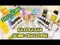 Zilli Slime Olur mu? Kazı Kazan Slime Challenge - Slime Yarışmasında ya Kaseler Değişirse :)