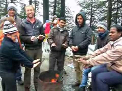 Fresh snowfall in Kashmir (Hindi)
