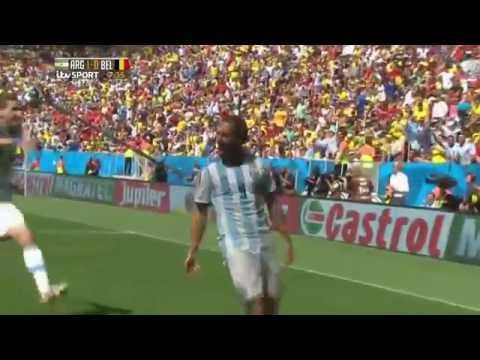 Argentina vs Belgium 1-0 Highlights FIFA 2014