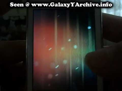 Amazing Broken Display on Samsung Galaxy Y