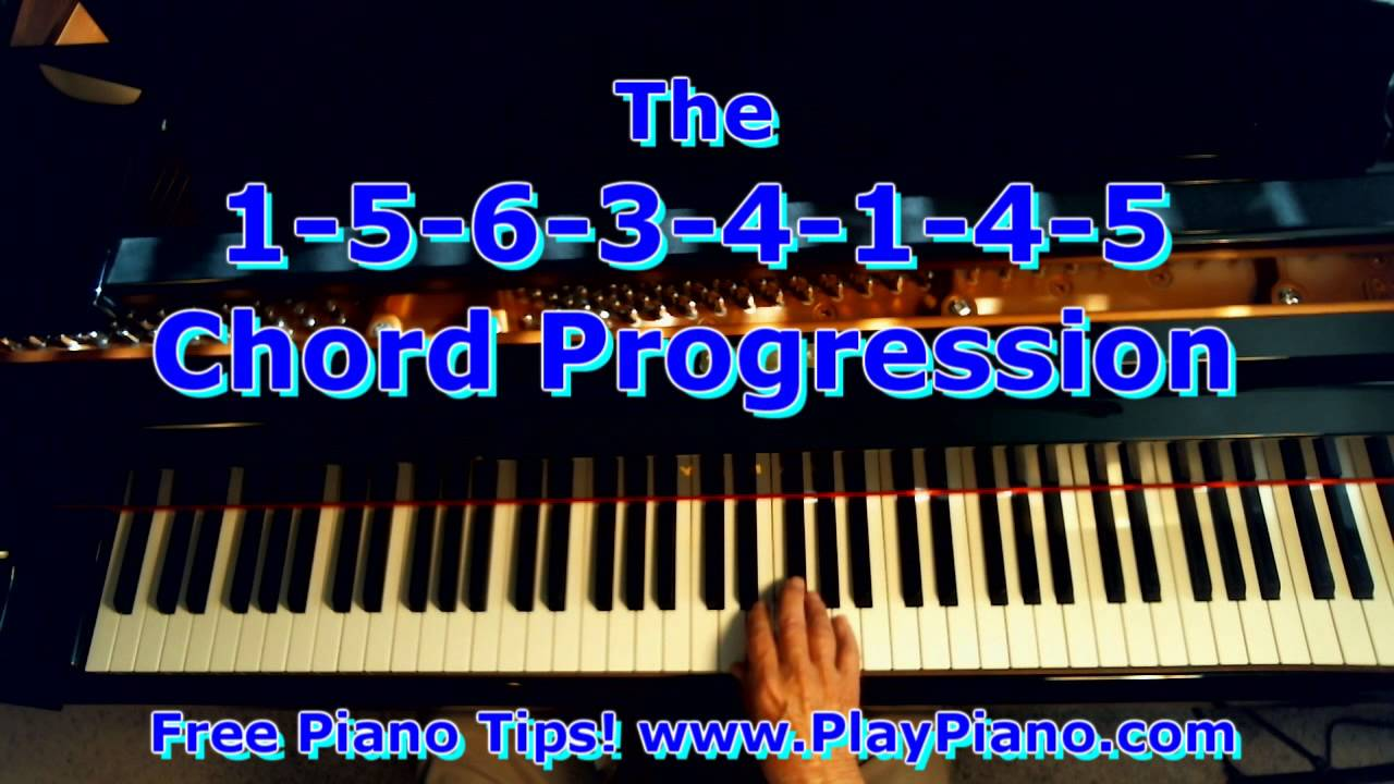 Gospel piano chords progression