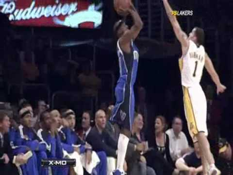 Jordan Farmar Amazing Block On Jason Terry With The Left Hand