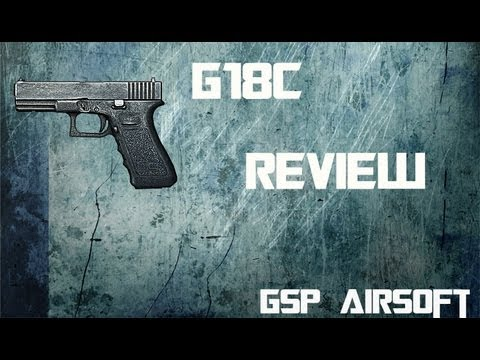 Glock 18C Softair Gas Blowback 1Joule Review GsP (German) [HD]