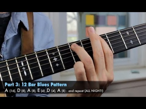 Play The Blues In Every Key - Rhythm And Lead Guitar Lesson - The Art Of Jamming!