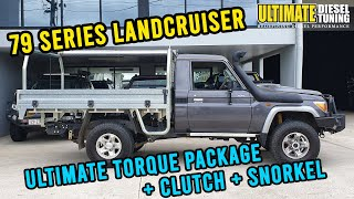 70 Series LandCruiser - how we got BIG torque out of one with the standard DPF still in!!!