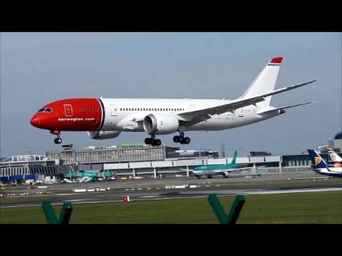 **Brand New** Norwegian 787 Dreamliner EI-LNH landing at Dublin for painting!!(HD)