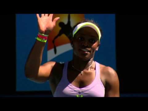 Behind the scenes with Sloane Stephens - Australian Open 2013