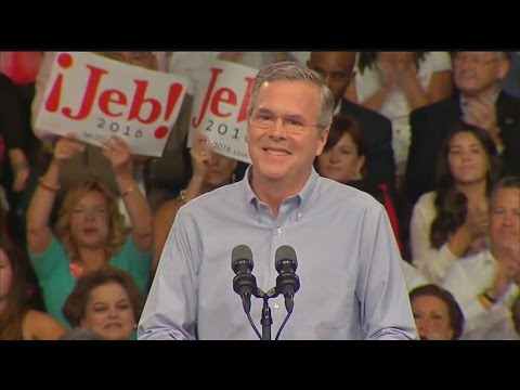 Finally, He's In: Jeb Bush Officially Announces 2016 Bid