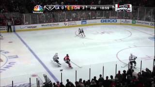 Patrick Sharp goal Feb 17 2013 LA Kings vs Chicago Blackhawks NHL Hockey