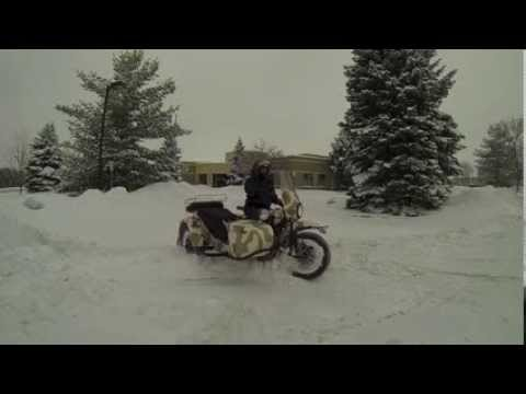 GOPRO Ural gear-up in the snow (Canada)