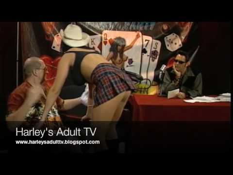 Angelica Sinn Shows the Cowgirl position Harley Fire Live Reality TV Video