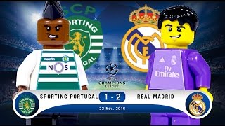 LEGO Sporting Portugal 1 - 2 Real Madrid Champions League 2016 / 2017 Group F