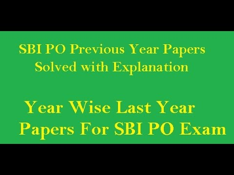 SBI Clerk-PO Previous Year Papers