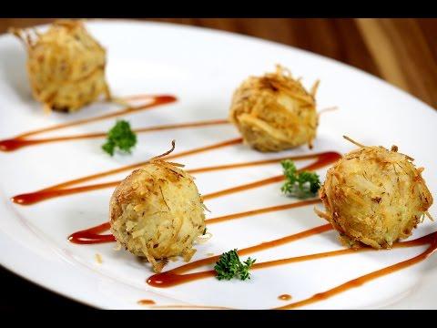 Coconut Crusted Potato Balls | Sanjeev Kapoor Khazana