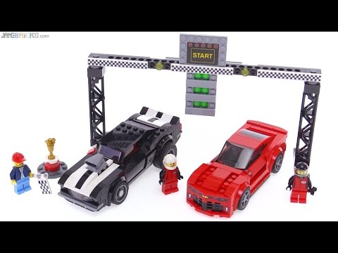 LEGO Speed Champions Chevrolet Camaro Drag Race review! 75874