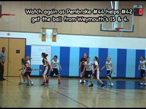 Pembroke Titans Grade 5 Girls' Travel Basketball vs Weymouth Wildcats Jan 13, 2013