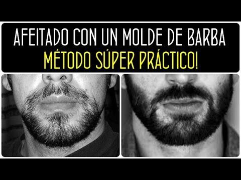 Cómo afeitarse la barba con un MOLDE de barba. Afeitado para hombre. Barba hombre