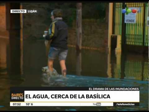 Luján bajo el agua: habla un comerciante - Telefe Noticias