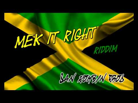 Free Reggae Beat instrumental - Mek It Right (san Kombin Prod) video