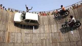 Bike and Car Stunts At High Speed On Walls | Well Of Death | People Are Awesome | Talentdunia