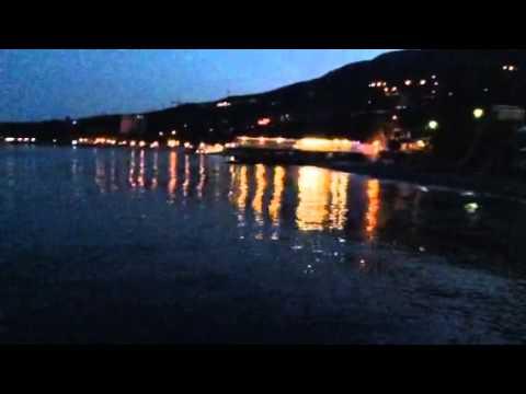Crimea.Gurzuf.Ночное море огнями светится.Июнь 2014