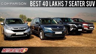 Toyota Fortuner vs Ford Endeavour vs Skoda Kodiaq vs Honda CRV Comparison | Hindi | MotorOctane