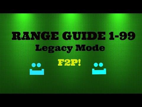 Runescape F2P Range Guide 1-99(LEGACY MODE)