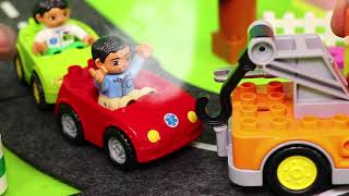 Excavator, Fire Truck, Police Cars, Train, Tractor & Dump Trucks Construction Toy Vehicles for Kids