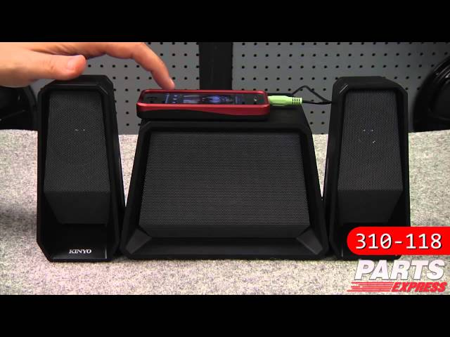 Kinyo SW-8119 Cutting Edge Powered Speakers