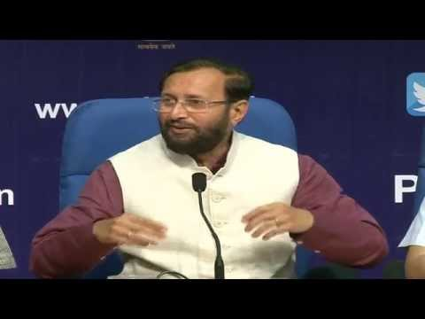 Press Conference by Shri Prakash Javadekar on completion of one year of the Union Govt.