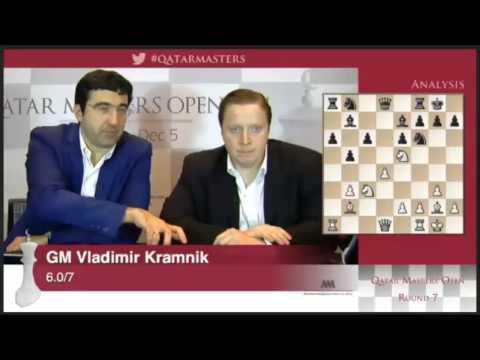 Qatar Chess Masters 2014 #404-Kramnik v Giri-Rd.7