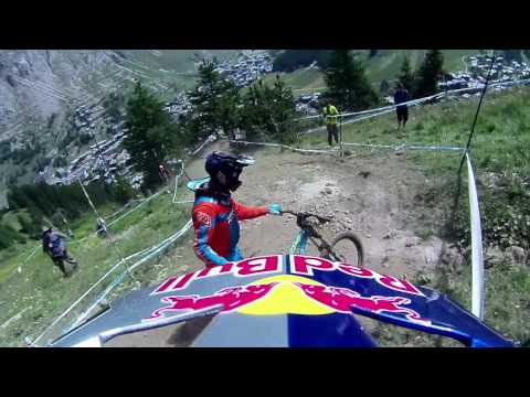 CONTOUR MTB Val d Isere France Worldcup 2012 Course Preview from Steve Smith and a Crash