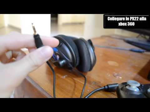 Unboxing Turtle Beach Ear Force PX22  Tutorial collegamento XBOX360/PC/PS3